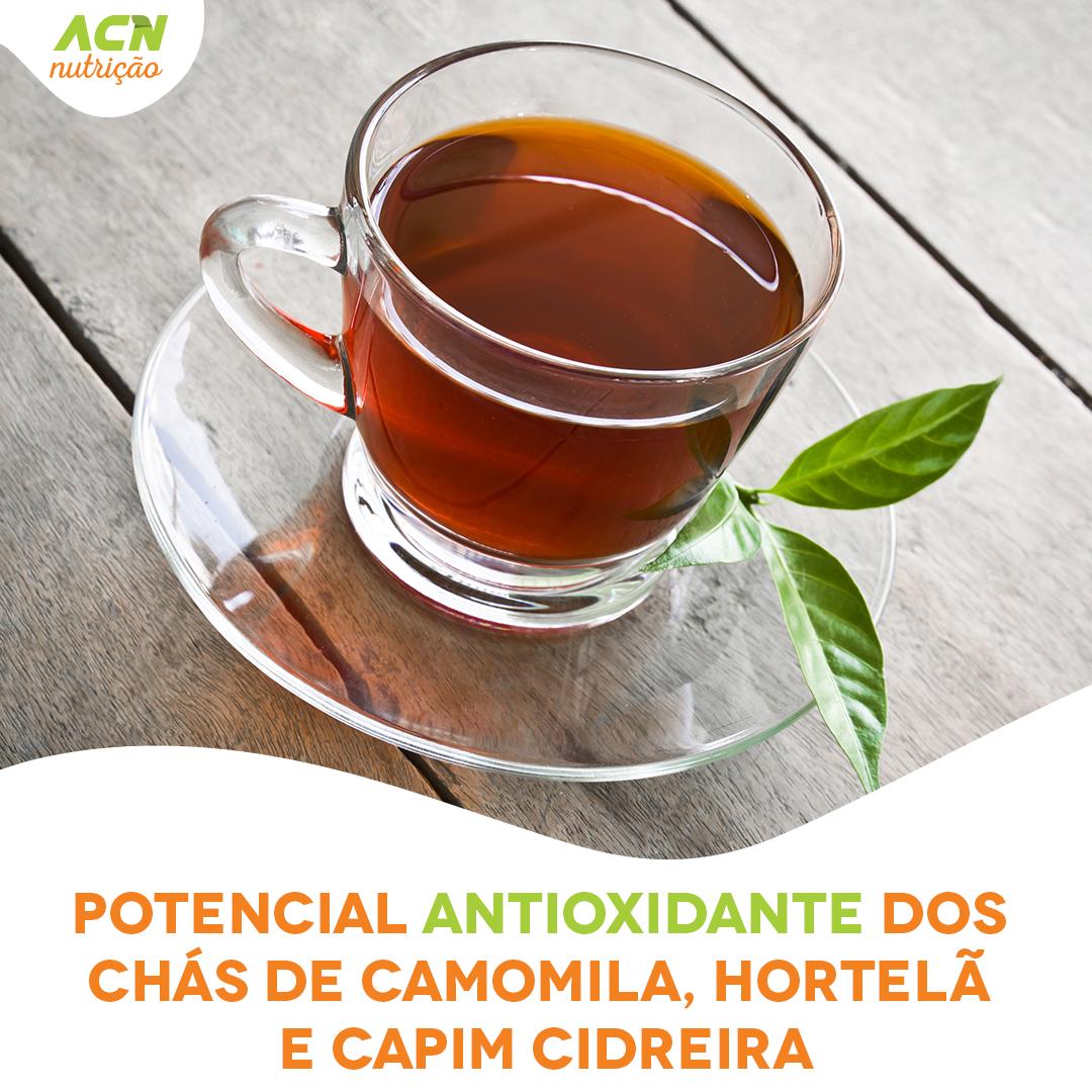 Potencial antioxidante dos chás de camomila, hortelã e capim cidreira